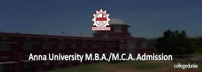 Anna University Distance MBA/ MCA Admission 2015