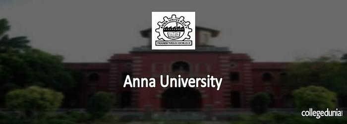 Anna University MBA/ MCA/ M.Sc. Admission 2015 Notification
