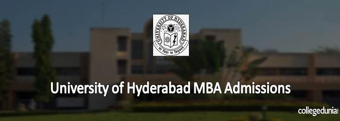 University of Hyderabad MBA Admissions 2015