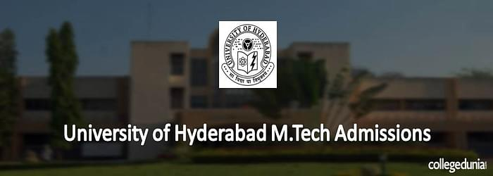 University of Hyderabad M.Tech Admissions 2015