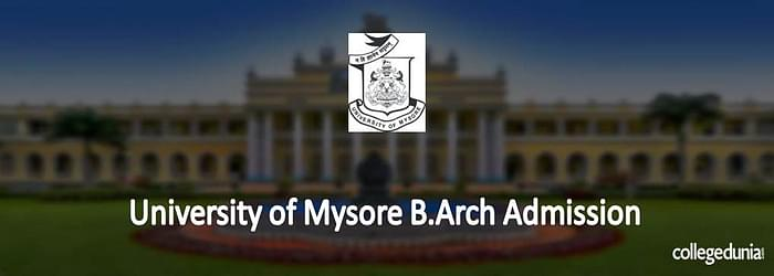 University of Mysore B.Arch Admission 2015 Notification
