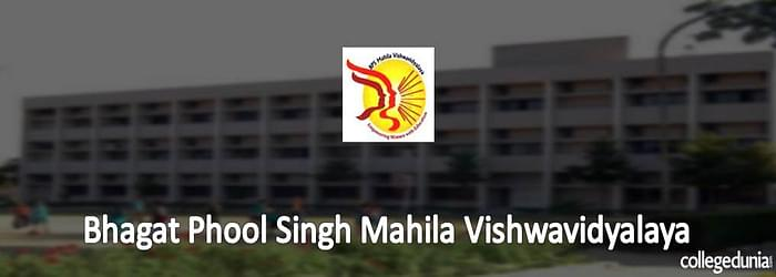 Bhagat Phool Singh Mahila Viswavidyalaya Ph.D. PG and UG Admissions 2015 Notification