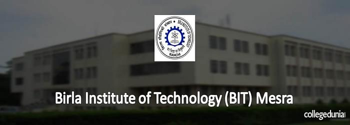 BIT Mesra 2015 Admission Notification for B.Sc. Programme