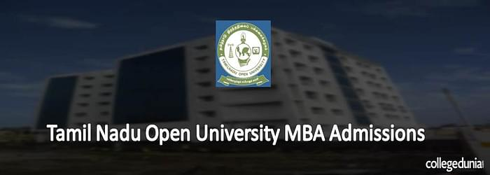 Tamil Nadu Open University MBA Admission