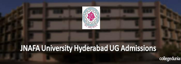 JNAFA University Hyderabad UG Admissions 2015 Notification