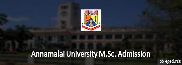 Annamalai University M.Sc. Admission 2015