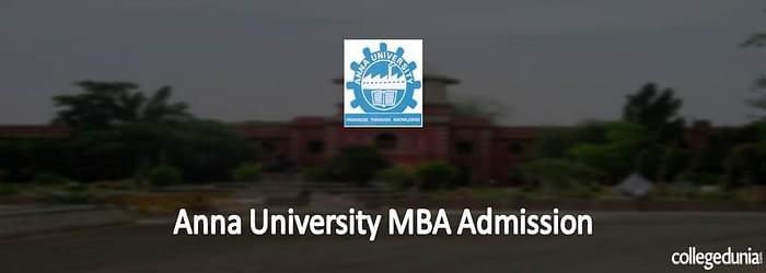 Anna University MBA Admission 2015
