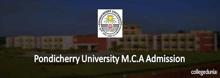 Pondicherry University M.C.A. Admission
