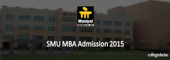 Sikkim Manipal University MBA Admissions 2015 Notification