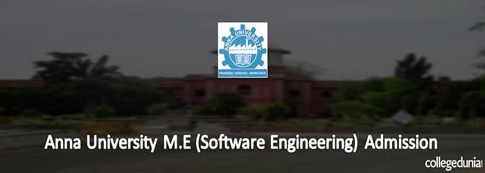 Anna University M.E (Software Engineering) Admission 2015