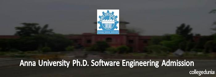 Anna University Ph.D. Software Engineering Admission 2015