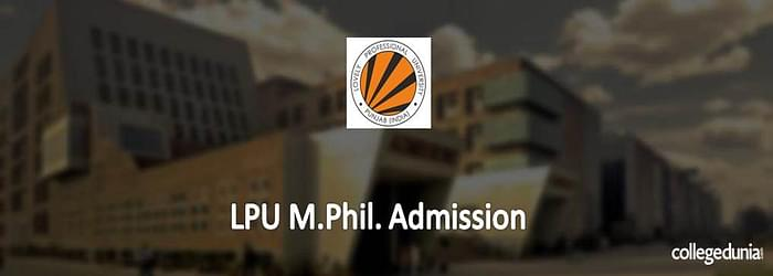 LPU M.Phil. Admission 2015