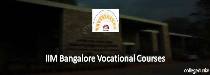 IIM Bangalore Vocational Courses 2015 Notification for SDPs & LDPs Programme