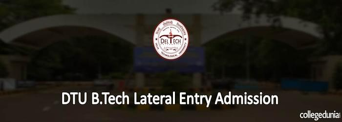 DTU B.Tech Lateral Entry Admission 2015
