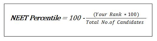 NEET Percentile Score