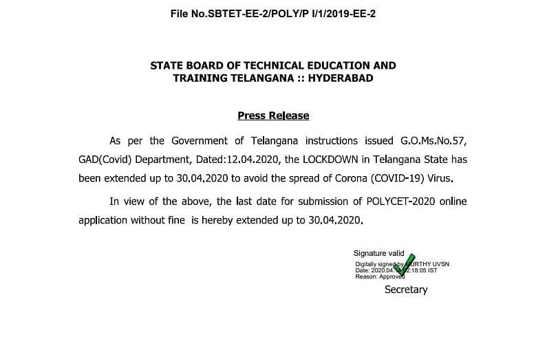 Polytechnic form 2019