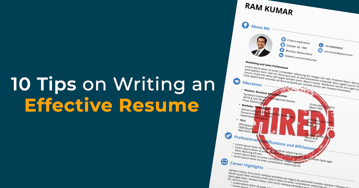 Collegedunia 10 Tips On Writing An Effective Resume