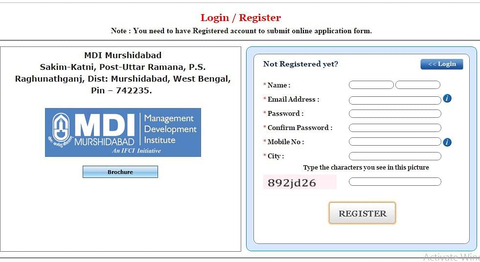 MDI New user form