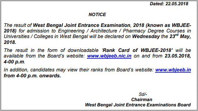 Image Result For Wbjee Result