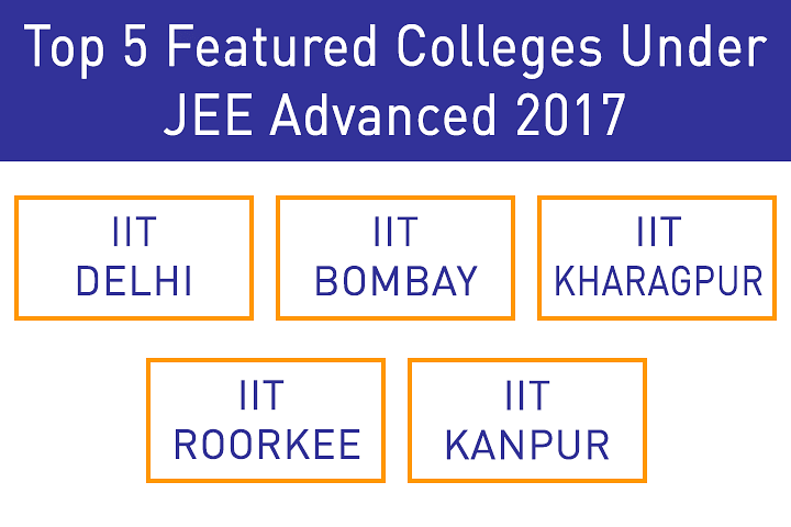 top 5 featured colleges under jee advanced 2017