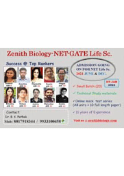 Zenith Biology for NET And GATE Life Science And NEET