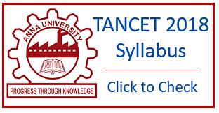 TANCET 2019 Application Form, Admit Card, Exam Dates