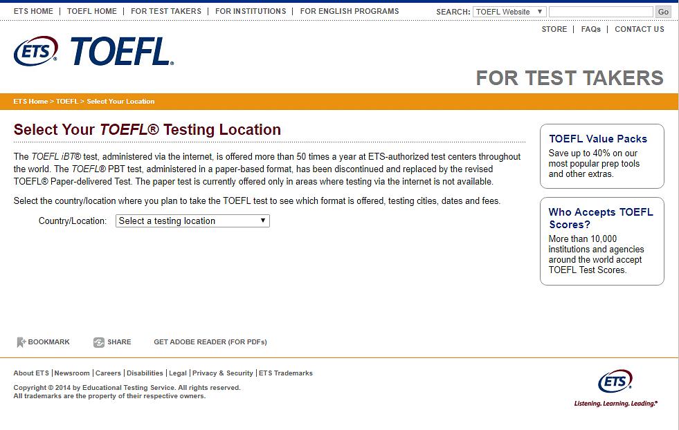 TOEFL iBT Test Center