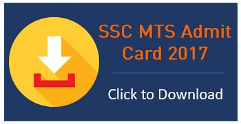 SSC MTS HALL TICKET 2017
